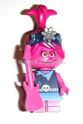 POPPY w//Yellow Ukulele from set 41253 Lego Trolls World Tour MiniFigure New