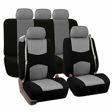 Ultra Comfort Highest grade faux leather Full Set Seat Cushions Black