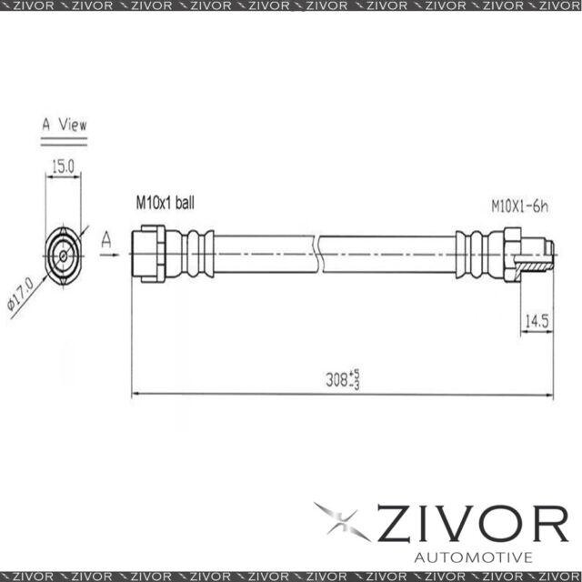PROTEX Hydraulic Hose-Rear For MERCEDES BENZ SLK230 R170 2D Conv RWD 1997-2004