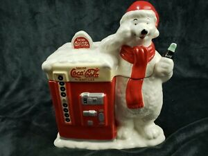 Vintage Coca Cola Polar Bear Vending Machine Cookie Jar ...