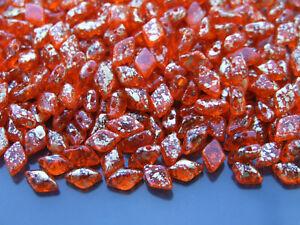 10 G Tchèque Gemduo Double Trou Perles Or 8x5mm Splash Jacinthe-afficher Le Titre D'origine éLéGant Dans Le Style