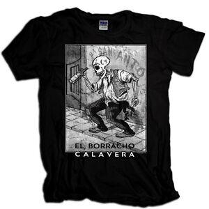 El-Borracho-Calavera-T-Shirt-Dia-De-Los-Muertos-Day-of-the-Dead-Posada