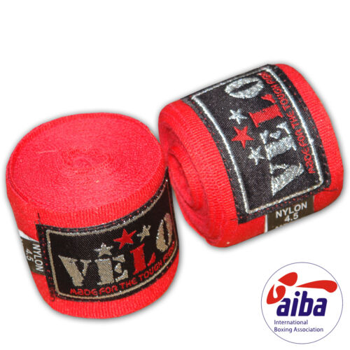VELO AIBA Hand Wraps Bandages Boxing Fist Inner Gloves Muay Thai MMA Stretch 4.5