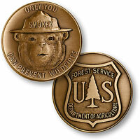 Smokey Bear Challenge Coin Usfs The Us Forest Service Prevent Fires Smoky Usda
