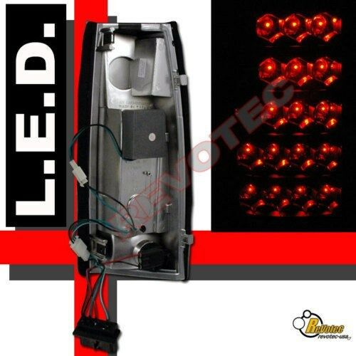Smoke LED Tail Lights For 88-98 Chevy GMC C//K 1500 2500 3500 Silverado Sierra