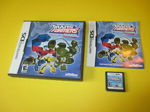Transformers-Animated-The-Game-Nintendo-DS-Lite-DSi-XL-3DS-2DS-w-Case-amp-Manual