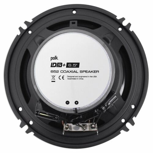 "2x Polk Audio DB652 Marine 300W Certified 6.5/"" Coaxial Car//Marine ATV Speakers"