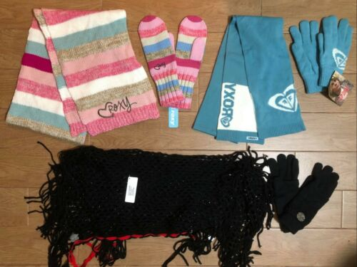 Brand New Roxy Women Girls Scarf Gloves sets