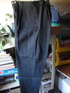 Dress-Barn-Black-Dress-Pants-Slacks-18W-Pleated-Front-Side-Elastic