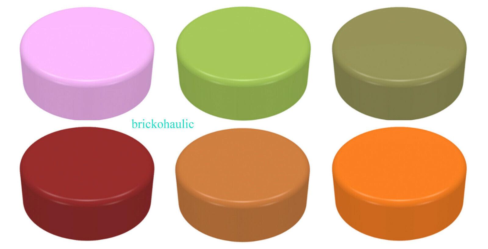 4x tile round 1x1 smooth round plate orange 98138 new Lego