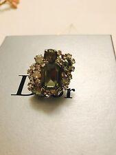 Authentic Christian Dior Swarovski Oversized Ring Sz6.5 $650+