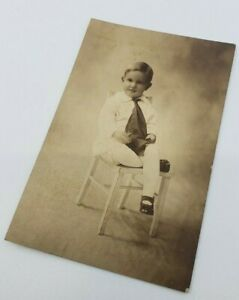 Antique-Victorian-photograph-Kid-Child-Sitting-on-a-chair-Little-Boy-SO-CUTE