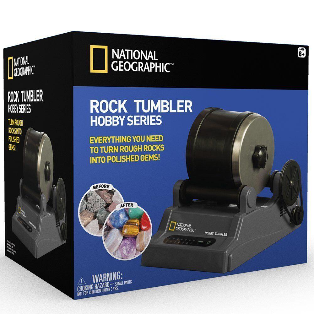National Geographic Hobby Rock Tumbler Kit Skapa Gemstone Ring NyckelkedjeJewelry