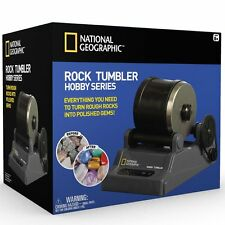 National Geographic Hobby Rock Tumbler Kit Create Gemstone Ring Keychain Jewlery