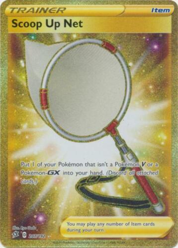 SWSH02-207 Scoop Up Net GOLD FOIL Pokemon Rebel Clash Card # 207