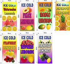 7 Pk 15 X 30 Banners Assorted Fruit Flavored Lemonade Drinks