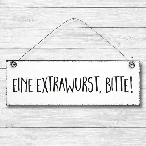 Shabby Holz Deko Wand Tür Schild Dekoschild Extrawurst Geschenk Türschild