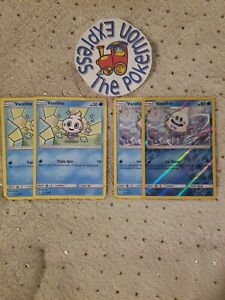 Pokemon-TCG-2x-Vanillite-33-145-2x-Vanillish-34-145-1-Rev-Holo-Mint-Water