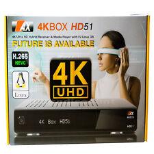 AX 4K HD-51 UHD Sat Receiver E2 1x DVB-S2 2160p H.265 HEVC Linux IPTV Digital +