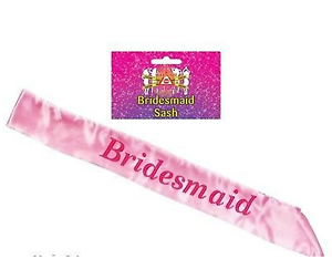 HEN NIGHT PINK BRIDESMAID SASH PARTY SASHES GIRLS NIGHT OUT WEDDING MAID