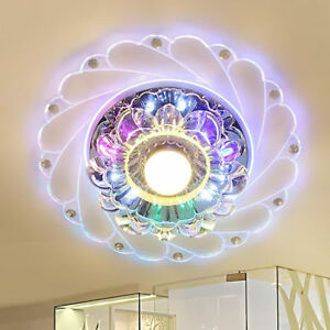 Modern Crystal LED Ceiling Light Fixture Aisle Hallway Pendant Lamp ...