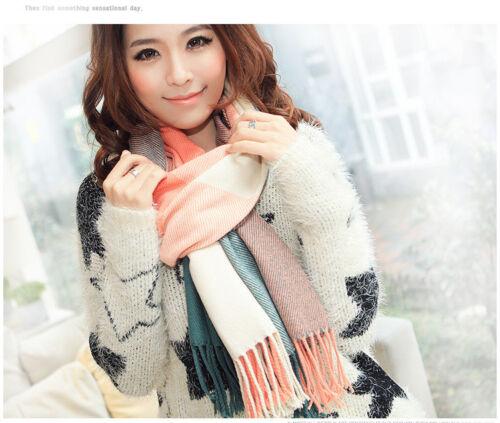 REGNO Unito le donne oversize a quadretti con Nappa Coperta inverno sciarpa Wrap scialle caldo regalo di qualità
