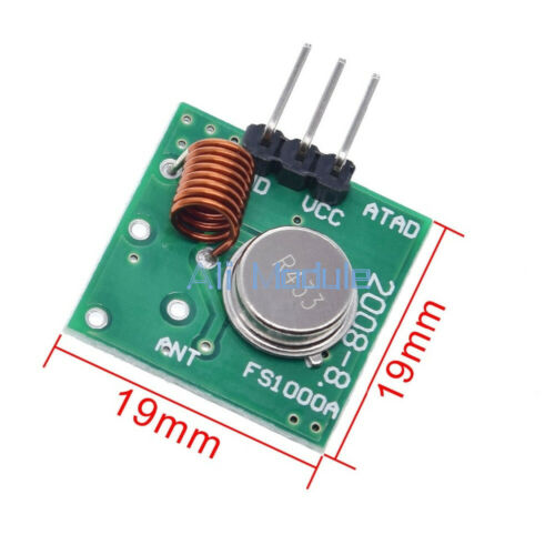 433Mhz RF transmitter and receiver link kit for Arduino//ARM//MCU remote control