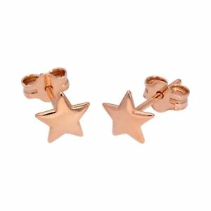 Rose-Gold-Plated-Sterling-Silver-Star-Stud-Earrings