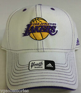 NBA Los Angeles Lakers Adidas Youth Structured Curve Brim 4-7 Years ... 3877ee392c8