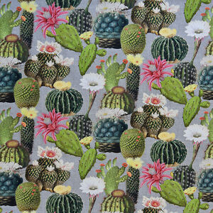 Image Is Loading Cactus Cacti Digital Print Fabric Quality Upholstery