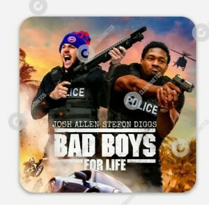 Josh Allen Stefon Diggs MAGNET - Buffalo Bill's Bad Boys for Life New York