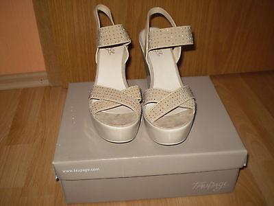 TAUPAGE-Zalando Damenschuhe Sandalen Sandaletten Wedge Gr.39,Nieten