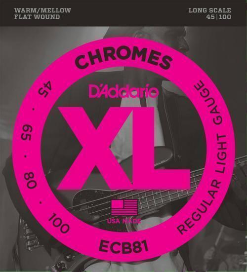 D'Addario D'Addario D'Addario Chromes Flatwound Bajo Cuerdas (45-100) Regular 2f4fa6