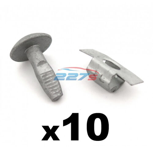 Peugeot Metal Engine Undertray Fasteners Shield Clips 10x Bolts & 10x Clasps