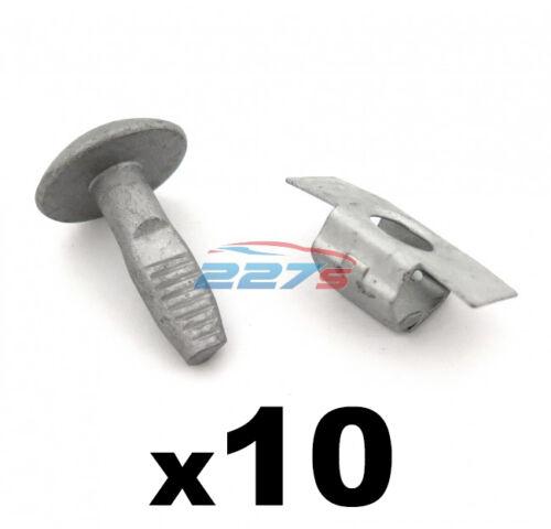 Peugeot /& Citroen Motor Bajo Bandeja Escudo /& Panel Clips-Pernos 10x /& Broches 10x