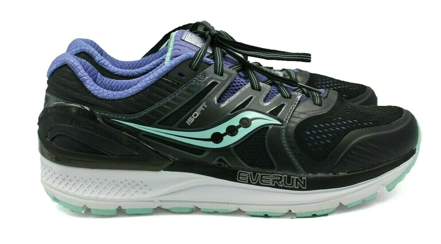 SAUCONY Reedemer Iso 2 Women's Running shoes - Black Aqua purple - Size 10 - NEW