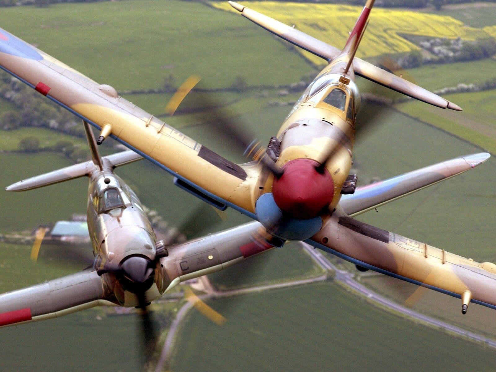 Battle of Britain Memorial Flight Spitfire and Hurricane  Photo Print