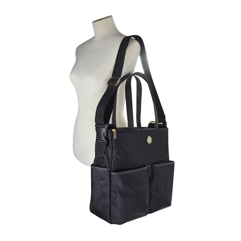 cc83a606250d Tory Burch Dena Nylon Baby Diper Shoulder Travel Bag Saffiano ...