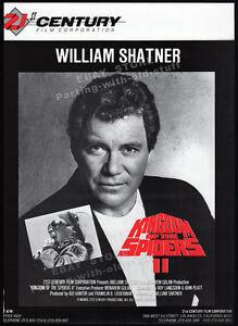 KINGDOM-OF-THE-SPIDERS-II-Original-1990-Trade-AD-promo-poster-WILLIAM-SHATNER