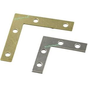 Flat Braces L Shape Angle Brackets Mirror Frame Corner Fix Edge