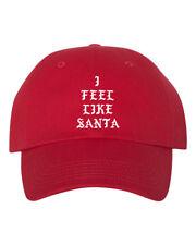I Feel Like Santa Dad Hat Baseball Cap Unstructured Christmas Xmas New - Red 7e1c88ee3b7f
