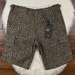 Levi S Para Hombres Talla 30 Leopardo Cheetah Animal Print Pantalones Cortos Estilo Cargo De Bola De Alta Ebay
