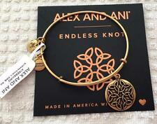 ALEX AND ANI ENDLESS KNOT II CHARM BANGLE BRACELET NWT RTLS $28 RUSSIAN GOLD