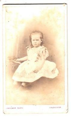 Q19 Cdv Carte De Visite Little Girl With A Frown By J W Gilmor Of Colchester Ebay