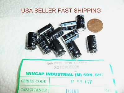 1000uf 1000mfd 16 V vdc Wincap Electrolytic Capacitor uf  mfd USA S/&H three 3