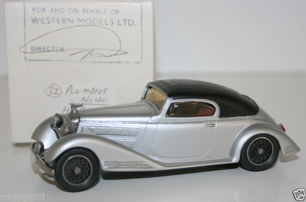 WESTERN MODELS MIKE STEPHENS 1st PROTOTYPE MODEL - PLUMBIES - HORCH 1939 RALLY  | Moderater Preis