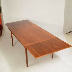 Details About Danish Modern Mid Century L F Mobler Teak Dining Table Fully Refinished