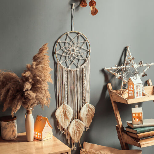 Cotton Handmade Macrame Woven Wall Hanging Tapestry Bohemian Boho Home Art Decor