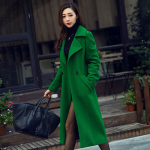 S Lapel Women Long Jakker Slim Outwear 2xl Uld Coats Trench Blend New fwAvUSwq
