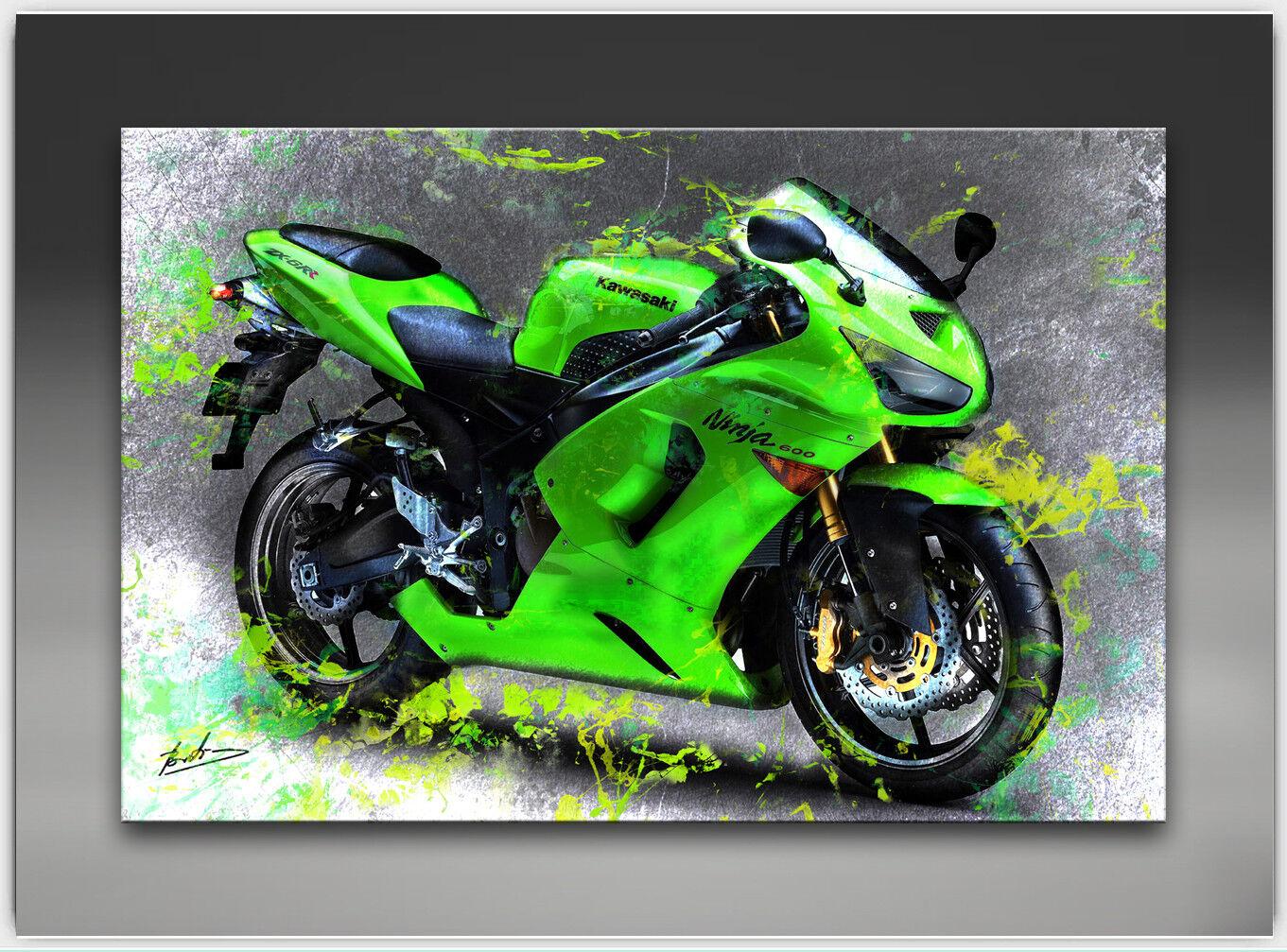 Toile deco Photos Kawasaki Ninja 600 Moto deco Toile art la fresque art pression 1544 a 2fa12e